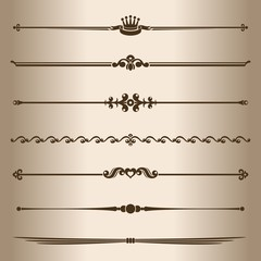 Elements for design - decorative line dividers.