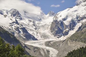 Morteratsch, Gletscher, St. Moritz, Alpen, Graubünden, Schweiz