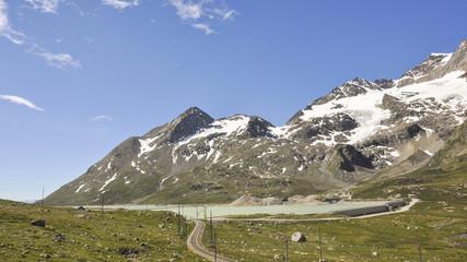 Bernina, Schweizer Alpen, Passstrasse, Stausee, Graubünden