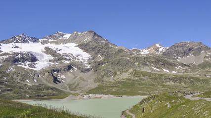 Bernina, Pass, Stausee, Lago Bianco, Schweizer Alpen, Graubünden