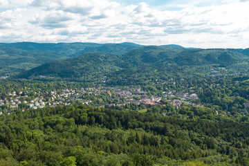 Panorama view to Baden-Baden, Germany