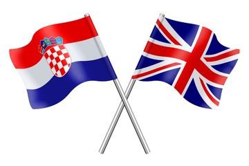 Flags: Croatia and United Kingdom