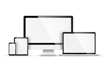 Set of modern devices. Vector