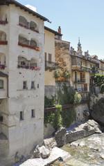 Chiavenna, Altstadt, Fluss Meta, Lombardei, Italien