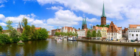 Panorama Hansestadt Lübeck - An der Obertrave