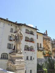 Chiavenna, Altstadt, Nepomuk, Alpen, Sommer, Italien