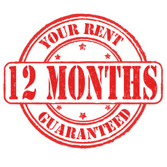 Your rent 12 months guaranteed stamp