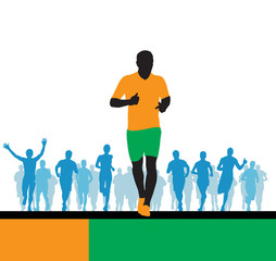 Sport illustration. Runners
