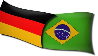 Flagge Fahne Deutschland Brasilien