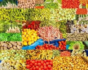 collage de photographies de légumes variés