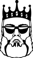 King beard vector