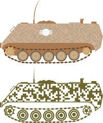 Personnel Carrier Vector Military