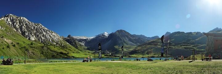 Panoramique station de ski de Tignes en été