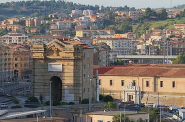 Pius's ancient gate (Porta Pia). Ancona, Italy