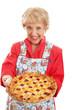 Retro Granny with Homemade Pie