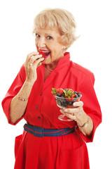 Senior Woman - Delicious Berries