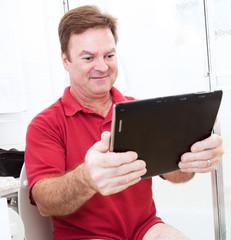 Tablet PC in Bathroom