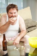 Couch Potato Eats Popcorn