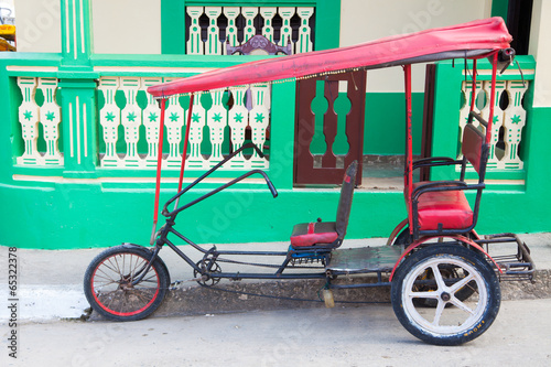 Bicycle Taxi w/ green background