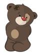 The stuffed toy bear cub cartoon