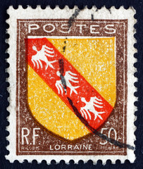 Postage stamp France 1946 Arms of Lorraine