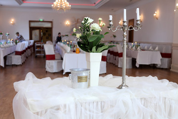 Sala weselna, ślub.