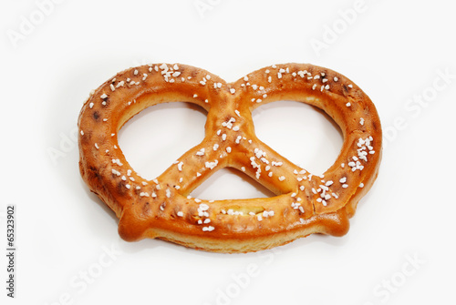 Aluminium Brood A Delicious Baked Soft Pretzel Over White
