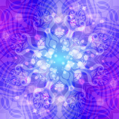 Abstract blue-violet round pattern with lights