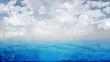 Grunge blue ocean landscape