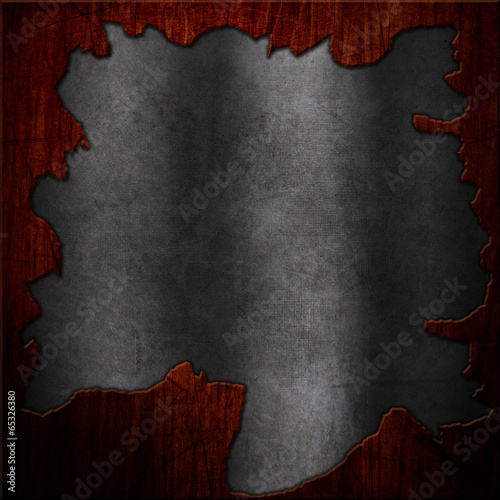 Grunge wood and metal background