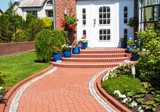 Fototapety Yard of suburban home