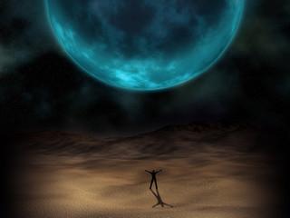 Surreal planet image