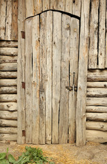 Wooden retro door