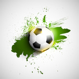 Grunge football / soccer ball background
