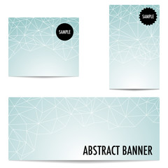 Three abstract banners in different sizes
