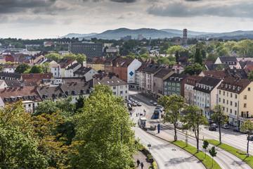 Ausblick vom Weinberg auf die Südstadt in Kassel