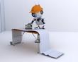 Robot hanging wallpaper