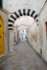 An alley of the Medina of Tunesi - Tunisia