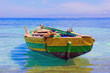 An old fishing boat docked near Labadee, Haiti. - 65328375