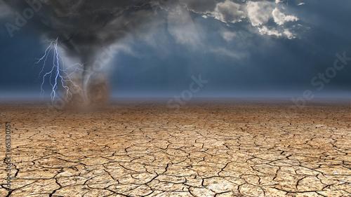 Leinwanddruck Bild Desert Dust Devil