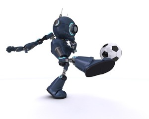 Android playing football