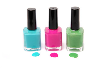 Colorful nailpolish