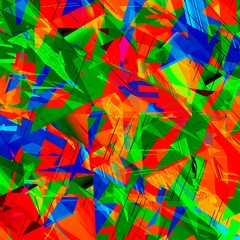 Abstract Shattered Colorful Digital Crystal