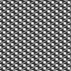 Seamless vector black and white pattern background