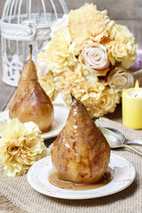 Pear with caramel