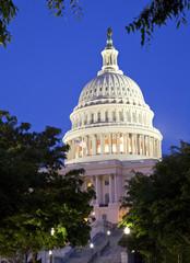 US Capitol at dusk, Washington DC