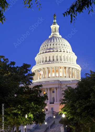 US Capitol at dusk, Washington DC