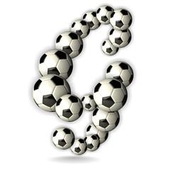 Soccer Alphabet - 3D - Letter G