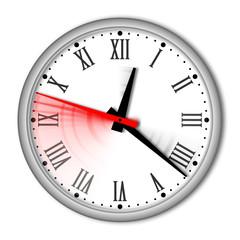 orologio da parete con numeri romani