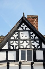 Tudor building detail, Lichfield, England © Arena Photo UK